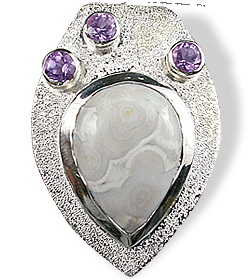 Design 12536: gray,purple jasper drop pendants