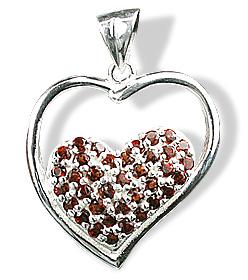 Design 12537: red garnet heart pendants