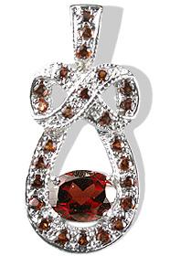 Design 12569: red garnet pendants