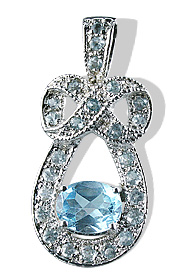 Design 12570: blue blue topaz pendants