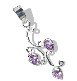 Design 12712: purple amethyst leaf pendants