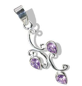 Design 12712: purple amethyst leaf pendants