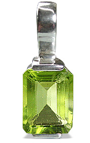 Design 12779: green peridot brides-maids pendants