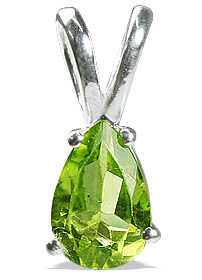 Design 12788: green peridot brides-maids pendants