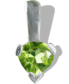 Design 12804: green peridot brides-maids pendants