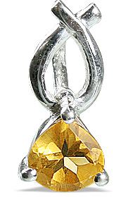 Design 12833: yellow citrine brides-maids pendants