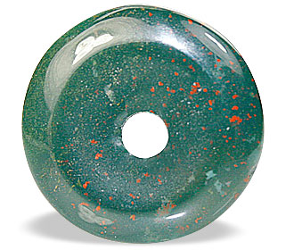 Design 12869: green bloodstone donut pendants