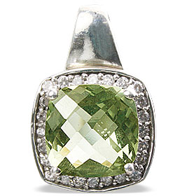 Design 12958: green green amethyst estate pendants