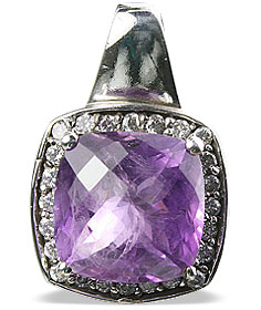 Design 12959: purple amethyst estate pendants