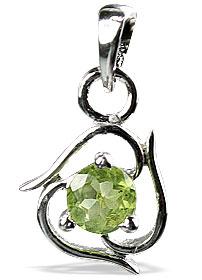 Design 12979: green peridot mini pendants