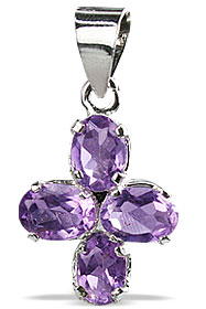 Design 12980: purple amethyst flower, mini pendants