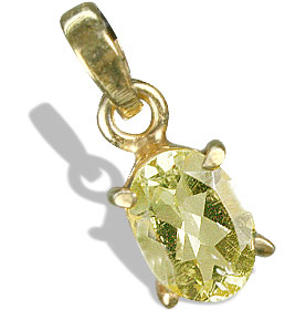 Design 12988: yellow lemon quartz mini pendants