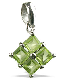 Design 12991: green peridot mini pendants