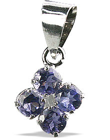Design 12998: blue iolite flower, mini pendants