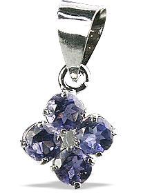 Design 12998: blue iolite flower, mini pendants