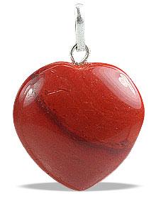 Design 13073: red jasper heart pendants