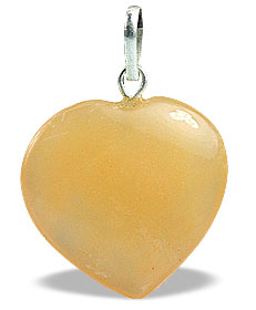 Design 13074: yellow aventurine heart pendants