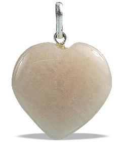 Design 13077: brown moonstone heart pendants