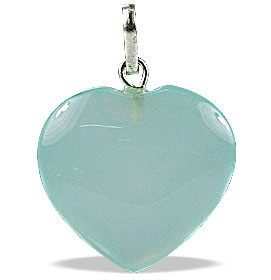 Design 13080: green onyx heart pendants