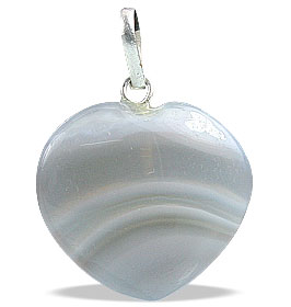 Design 13091: gray,white agate heart pendants