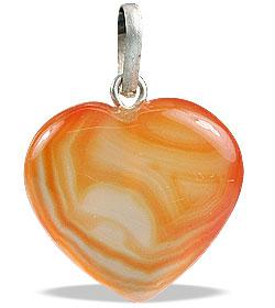 Design 13095: red,white onyx heart pendants