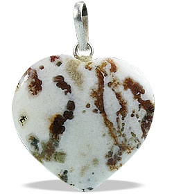 Design 13097: black,brown,white agate heart pendants