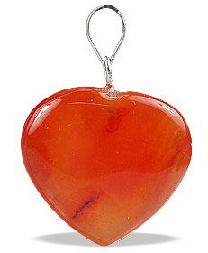 Design 13098: orange,red carnelian heart pendants
