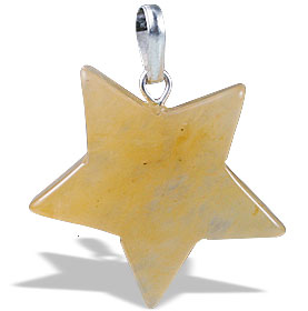 Design 13164: yellow aventurine star pendants