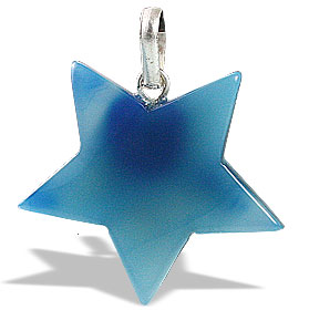 Design 13167: blue onyx star pendants