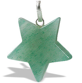 Design 13169: green aventurine star pendants