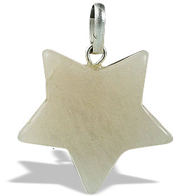Design 13171: pink moonstone star pendants