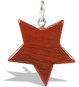 Design 13172: red jasper star pendants