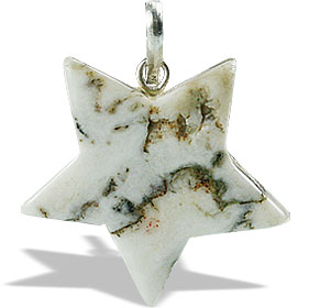 Design 13176: white,multi-color agate star pendants