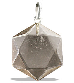 Design 13187: brown smoky quartz pendants