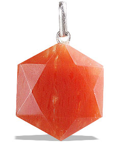 Design 13188: orange aventurine pendants
