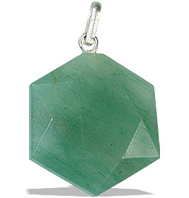 Design 13194: green aventurine pendants