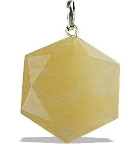 Design 13196: yellow aventurine pendants