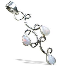 Design 13336: white,multi-color opal drop, engagement pendants