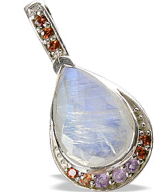 Design 13338: purple,red,white moonstone drop, estate pendants