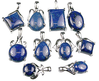 Design 13420: blue bulk lots pendants