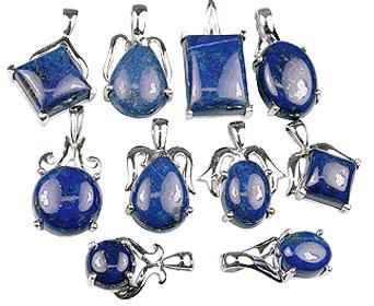 Design 13420: blue bulk lots pendants