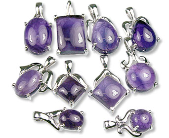 Design 13421: purple bulk lots pendants