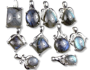 Design 13422: blue,green,gray bulk lots pendants