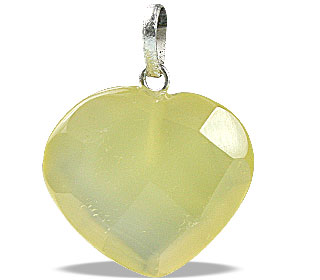Design 13442: yellow onyx heart pendants