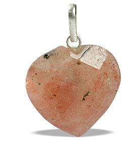 Design 13444: orange sunstone heart pendants
