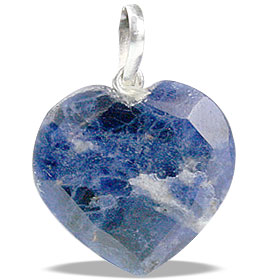 Design 13445: blue sodalite heart pendants