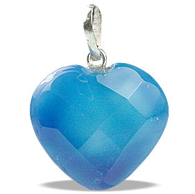 Design 13449: blue onyx heart pendants