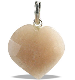 Design 13450: brown,gray moonstone heart pendants