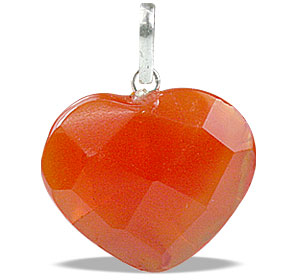 Design 13451: orange aventurine heart pendants