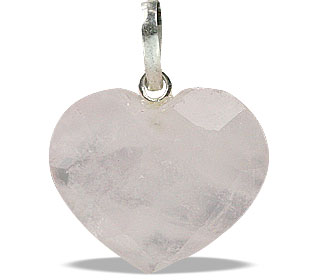 Design 13456: pink rose quartz heart pendants